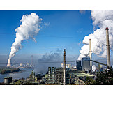 Industry, Power Station, Industrial Area