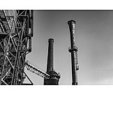Industry, Smoke Stack, Factory Building
