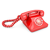 Telephone, Red, Rotary Phone