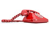 Telephone, Retro, Rotary Phone
