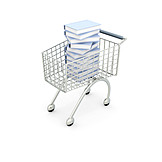 Shopping, Book, Cart