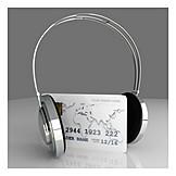 Music, Headphones, Credit Card, Buying