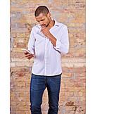 Mobile Kommunikation, Nachdenklich, Smartphone