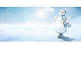 Winter, Ice Skate, Snowman