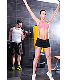 Couple, Sports Training, Together, Workout