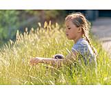 Girl, Meadow, Dreaming