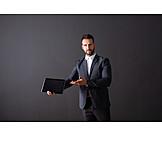 Businessman, Presentation, Tablet-pc
