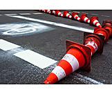 Barrier, Bike lane, Traffic cone