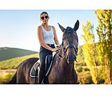 Horse, Horsewoman