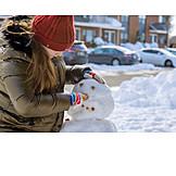 Winter, Building Activity, Snowman