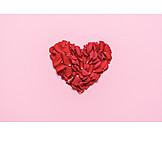 Love, Heart, Rose Leaves