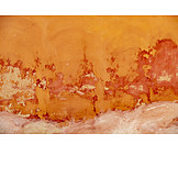 Orange, Wall, Mottled, Paint