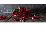 Wedding, Ring, Red Roses