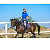 Riding, Horsewoman, Horses