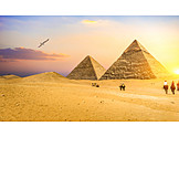 Sunrise, Horses, Rider, Giza Necropolis