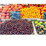Fruit, Cherries, Fruit Stand