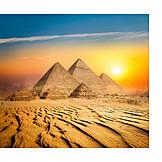 Sunset, King's Grave, Giza Necropolis