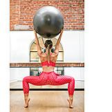 Gymnastics, Fitness Ball, Workout