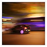 Blurred Motion, Car, Speed