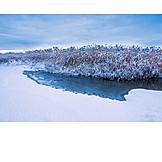 Winter, Frozen, River