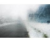 Gefahr, Autofahren, Regenwetter, Schlechtwetter