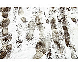 Snow, Slush, Footprints