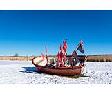 Winter, Boat, Bodden, Low Season