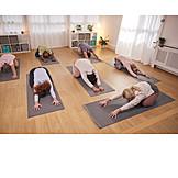 Yogaübung, Asana, Yogastudio, Yogagruppe