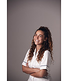 Laughing, Portrait, Nurse
