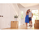 Couple, Happy, Real Estate, Moving In, New Home