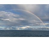 Sea, Weather, Rainbow