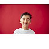 Boy, Laughing, Portrait