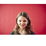 Girl, Smiling, Portrait