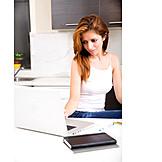 Home, Laptop, Online