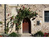 Door, Roses, Monastery Church