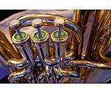 Close Up, Wind Instrument, Bass Tuba