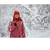 Portrait, Girl, Winter