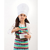 Girl, Cooking, Chef's Hat