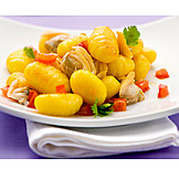 Seafood, Lunch, Gnocchi