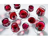 Rotwein, Weingläser