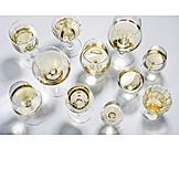 Weißwein, Weingläser