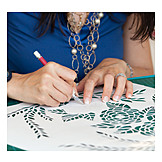 Crafts, Paper, Silhouette, Stencil