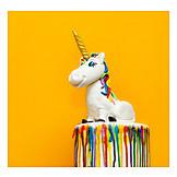Birthday Cake, Fondant, Cake, Unicorn