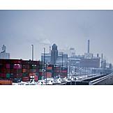 Industry, Cargo Container, Harbor Terrain
