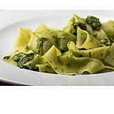Pasta Dish, Basil Pesto, Fettuccine