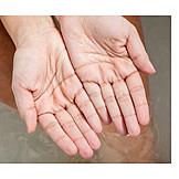 Hand, Bathwater, Dried, Dry Skin, Wizen