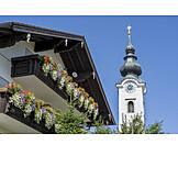 Wohnhaus, Kirchturm, Ulrichshögl, St. Ulrich
