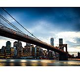 New york, Brooklyn bridge, East river