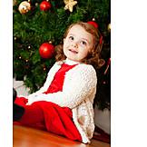 Girl, Christmas Tree Decorations, Christmas Tree