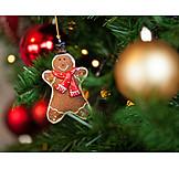 Christmas Decorations, Christmas Tree, Gingerbread Man